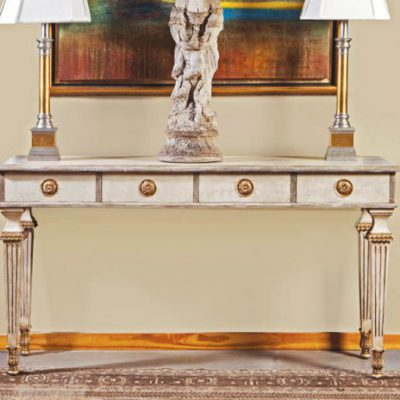 Antique Linen French Console Table