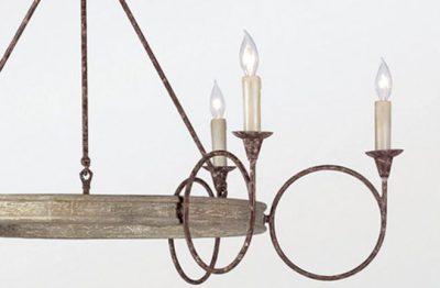 Bailey Chandelier - bulb detail
