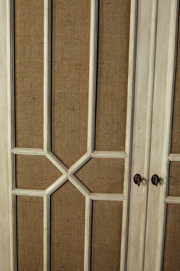 Burlap Armoire - Detail View