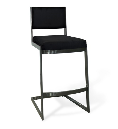 Chicago Upholstered Stool - Black