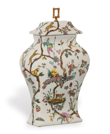 Chinoise Exotique Jar - side view