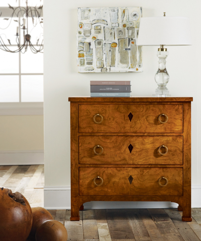 Continental Bedside Chest - Staged