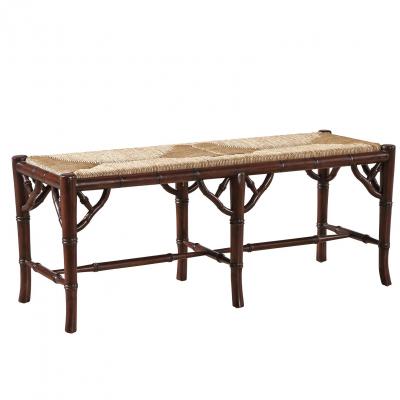 Faux Bamboo Bench-Mahogany