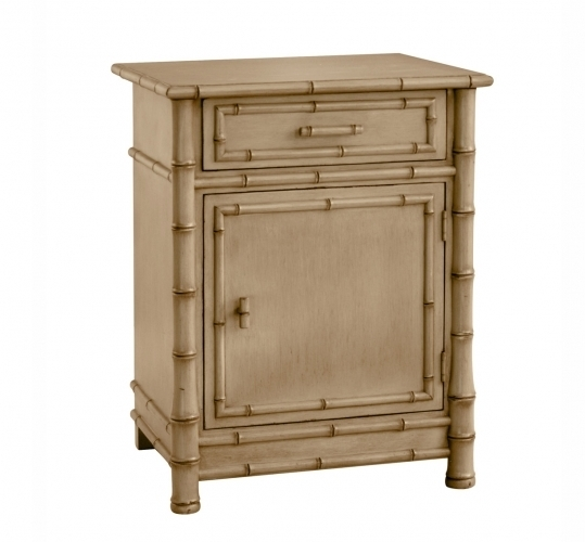 Faux Bamboo Nightstand-Natural