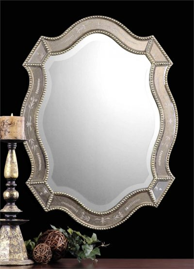 Felicie Oval Mirror - Staged