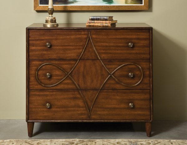 French Art Nouveau Chest - Staged