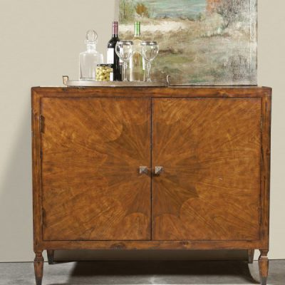 French Transitional Cherry & Walnut Cabinet