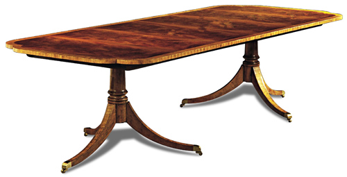 Crotch Inlay Edge Dining Table 1