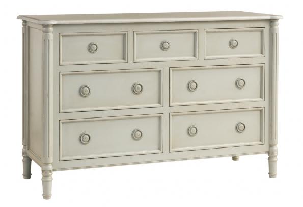 Isabella 7-Drawer Dresser - Off White