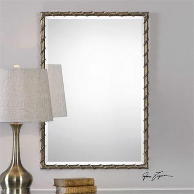 Laden Bronze Mirror - Staged