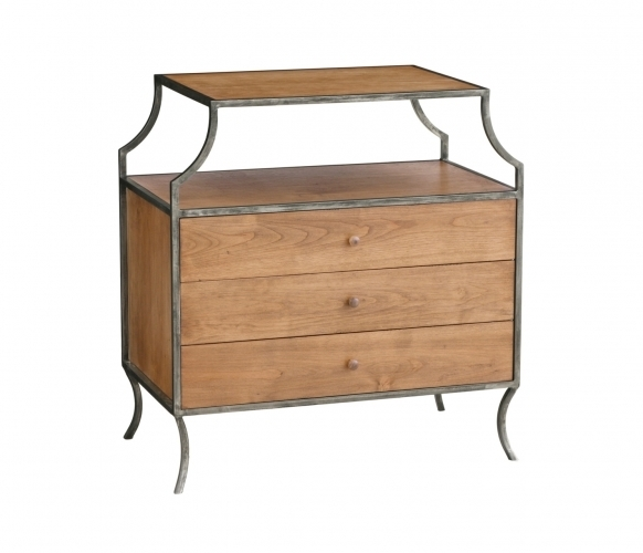 Milla Side Table with Drawers - Stained