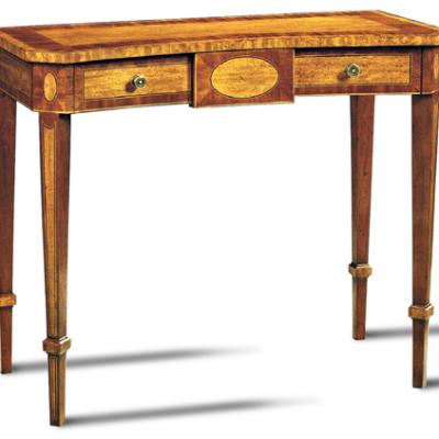 Movingue and Mahogany Console Table