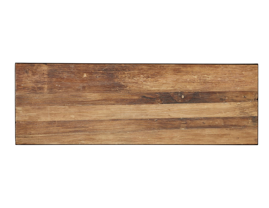 Old Elm Writing Desk - Top View