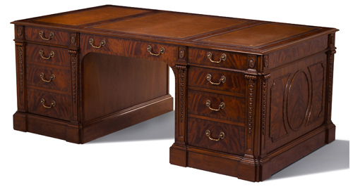 Partners Desk with carved columns