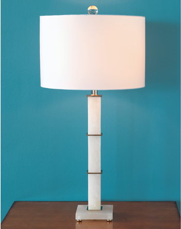 Rialto Alabaster Lamp - staged view 1