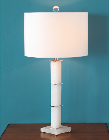 Rialto Alabaster Lamp - Staged View side