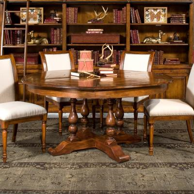 Walnut Jupe Dining Table - Staged 1