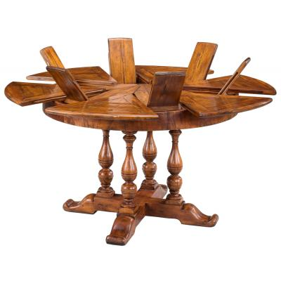 Walnut Jupe Dining Table-Small Leaves Open