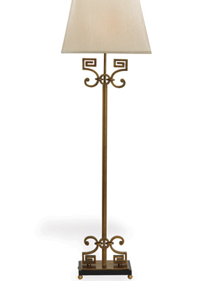 Whitney Brass Floor Lamp