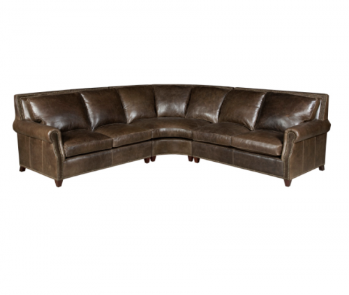 3-Pc Leather Sectional Sofa