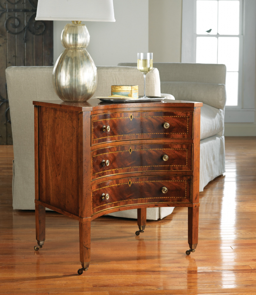 Concave Three-Drawer Chest