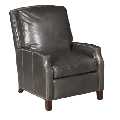 Gray Leather Electric Recliner Chair