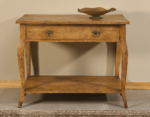 French Tier Table in Olde Pine - Staged