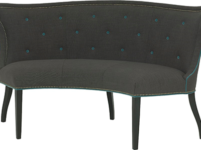 Hudson Curved Dining Settee