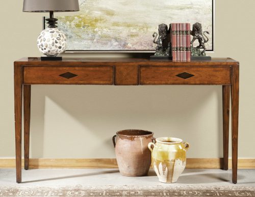 Italian 2 Draw Cherry Console - Staged
