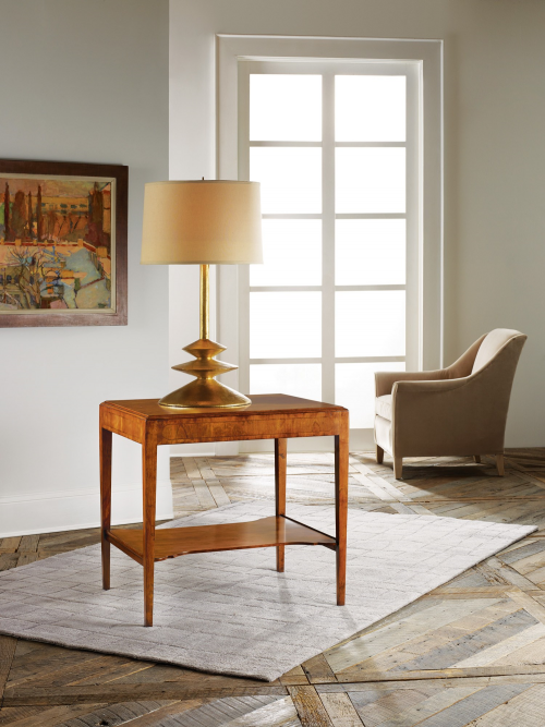 Large Georgian End Table - staged