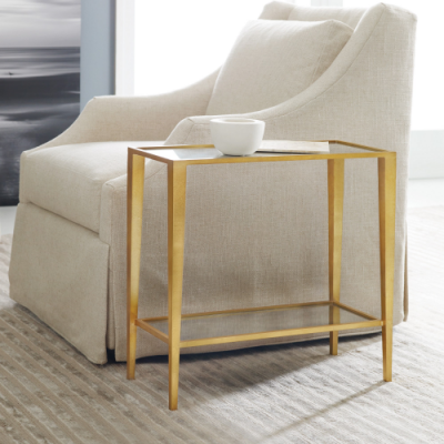 Gilt Chairside Table