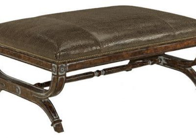 Leather Detail Bench