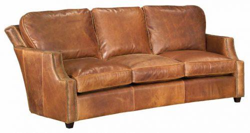 Leather Track-Nailed Sofa