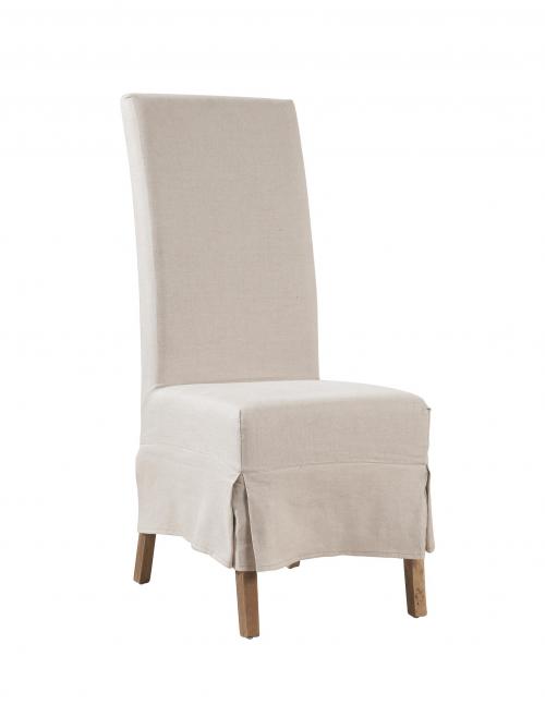 Linen Slip Covered Parsons Chair