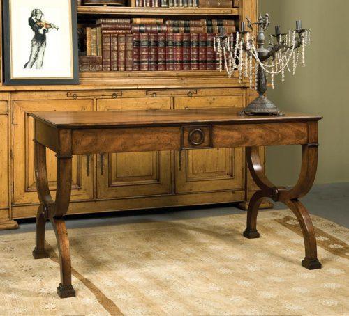 Louis XV Mahogany Writing Desk - staged