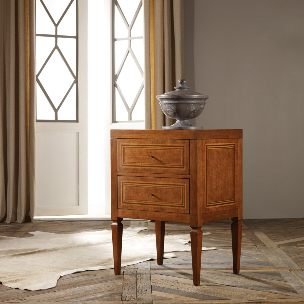Milan Bedside Chest - Staged