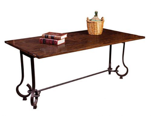 Oak and Iron Table for dining, desk or console