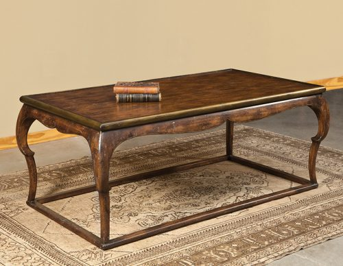 Oriental Cocktail Table in French Walnut