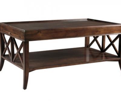 Rectangular X-End Coffee Table