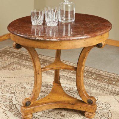 Marble-Top Regency Table