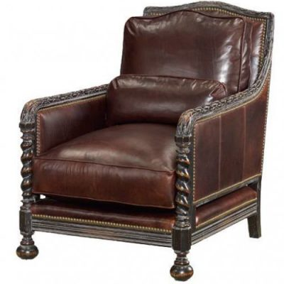 Royal Twist Leg Leather Chair