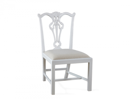 Side Chair - White, Side View