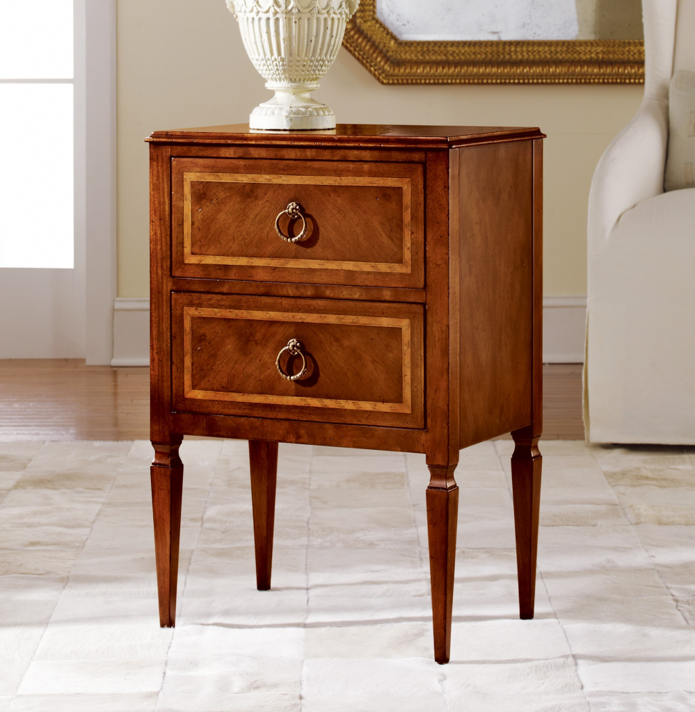 Small Two-Drawer Commode - Staged