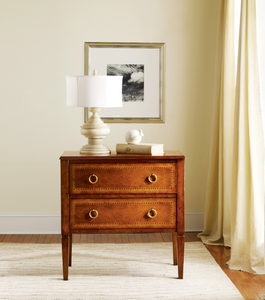 Two Drawer Fruitwood Commode - Staged