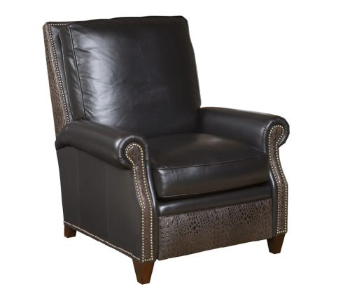 Two-Tone Leather Recliner Chair