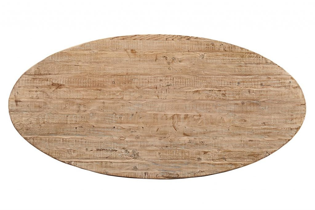 Atlantic Oval Dining Table - Top View