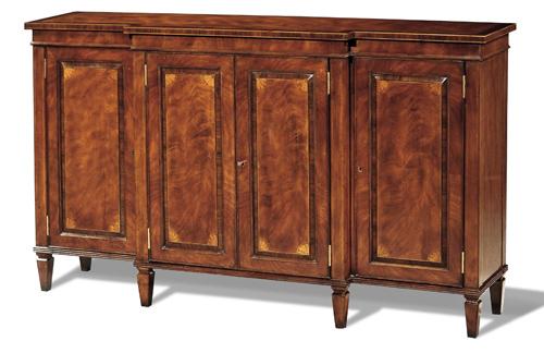 Crotch Mahogany and Rosewood Sideboard