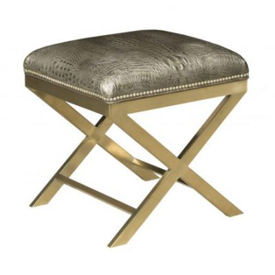 Gold and Leather Bench