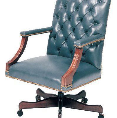 Tufted Swivel Desk Chair