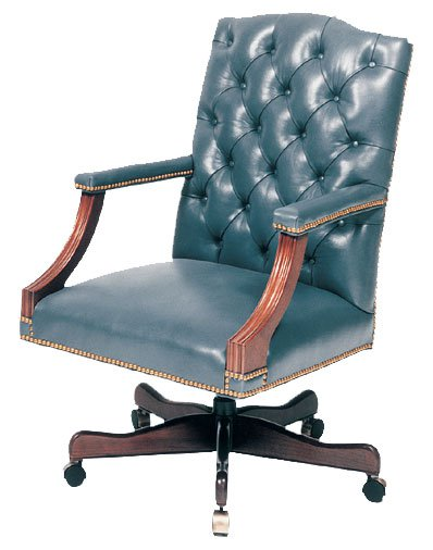 Tufted Swivel Desk Chair